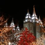 """Salt Lake Temple at Christmas time"" by rebsumnerphotos"