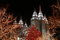 Salt Lake Temple at Christmas time