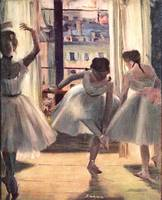 Three Dancers in a Exercise Hall