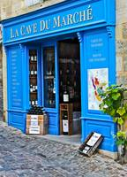 Blue Bordeaux Wine shop, St. Emilion, France