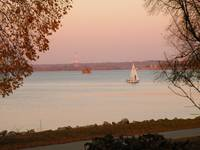 Sailboat-Mississippi River at Sunset