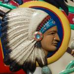 """Indian Head Carousel carving"" by kissthesky"