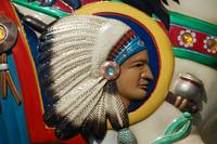 Indian Head Carousel carving