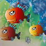 """""""Three pals"""" by RenfrewArt"""