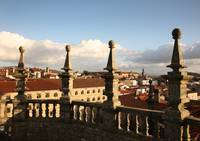 santiago de compostela view from cathedral roof