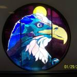 """Post Office eagle window - Homer, AK"" by arnshel"