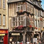"""""""Streets of Dinan, Brittany, France"""" by mjphoto-graphics"""