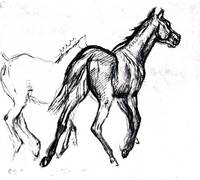 Two Trotting Horses