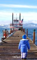 Kid on Lake Tahoe Bay