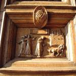 """Carved Wooden Door at Basilica of Saint Francis"" by BrendaMvisions"