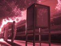 Lightrail at 13th St in Infrared