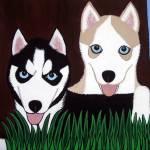 """""""Husky Pups"""" by petpawstudios"""