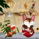 """cat-art-vy-catmaSutra- Recycle Plant"" by catmasutra"