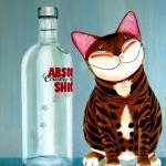 """cat-art-by-catmaSutra - Absolutely Shiok!"" by catmasutra"
