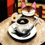 """cat-art-by-catmaSutra-Lucky Star"" by catmasutra"