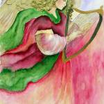 """""""""""Angelic Harp"""" watercolor"""" by marygaines"""