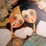 """""""two-angels at my window"""" by pbsartstudio"""