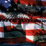 """us military flag in cemetary"" by jrkunz"