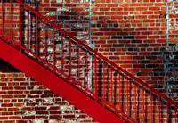 red stair exit