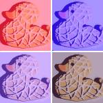"""Pop Art Rubber Duckie Cookies"" by crazyabouthercats"