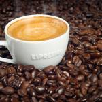 """""""Cup of Morning Espresso in Dark Roasted Coffee Bea"""" by DAPhoto"""