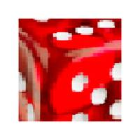 Red dice pixelated