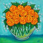 """Orange Passion Roses"" by LisaLorenz"