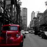 """Character street with little red truck"" by OttawaRefugee"