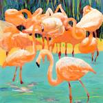 """Flamingos by RD Riccoboni"" by BeaconArtWorksCorporation"