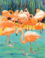 Flamingos by RD Riccoboni