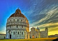Cathedrals and the Tower of Pisa