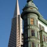 """Transamerica & Coppola Buildings in San Francisco"" by canbalci"