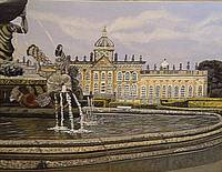 chatsworth house oilpainting