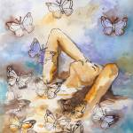 """bathed in butterflies"" by sharonlyn"