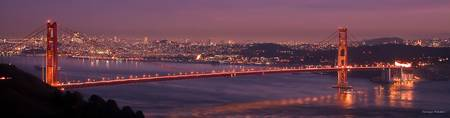 Golden Gate Bridge sunset - San Francisco