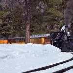 """Steam Locomotive in Winter"" by pbk"