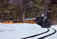 Steam Locomotive in Winter
