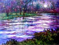 Fireflies and Moonlight Stream byVadal