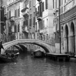 """Venice, lone gondola"" by BlueEyesPhoto"