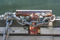 Rusted Cleat and Chain