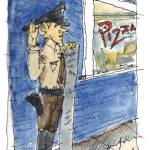 """""""Pizza Cop"""" by wlddlw"""