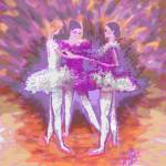 """Dancing in a Circle-In Mauve and Peach"" by cynthia"