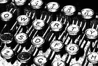 Old Typewriter Keys - Words