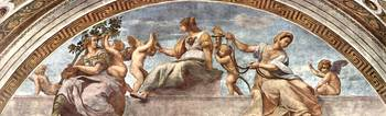 Allegory of the virtue Stanza della Segnatura 2