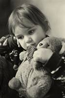 My  lovely angel with a toy bear.