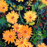 """Golden Chrysanthemums by RD Riccoboni"" by BeaconArtWorksCorporation"