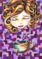 Curls and Coffee Swirls
