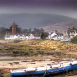 """Lamlash shore and village"" by JimMonan"