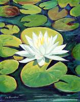 Water Lily Flower painting by RD  Riccoboni™