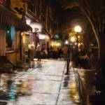 """College Avenue at Night in Athens, Georgia"" by Tim"